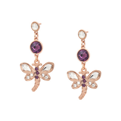 Earrings with a dragonfly pendant