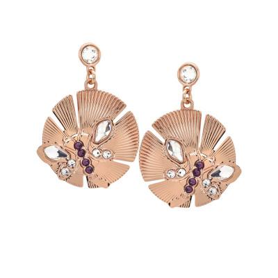 Hoop earrings with dragonfly