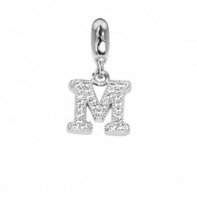 Charm with the letter M in zircons