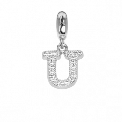 Charm with letter U in zircons