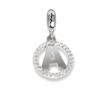Circular charm in zircons with letter A