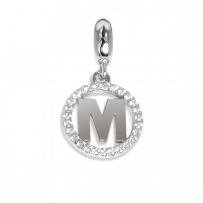 Circular charm in zircons with letter M