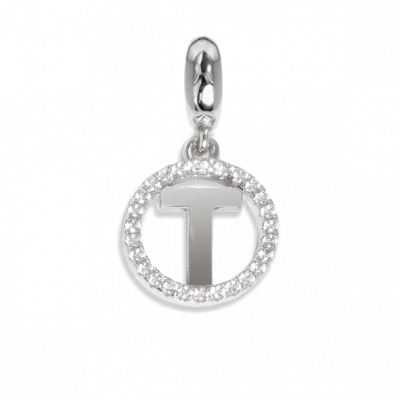 Circular charm in zircons with letter T