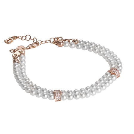 9f5e53a34ad46f Bracelet two wires of Swarovski beads with passing in silver rosato and  zircons