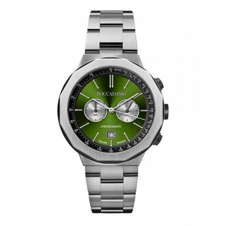 Chronograph watch with green dial