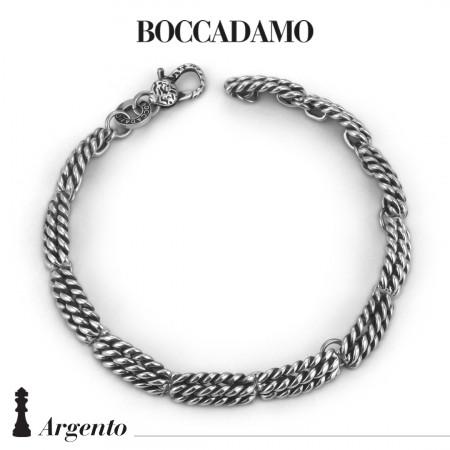Double rope bracelet in silver
