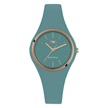 Watch lady in anallergic silicone paper from sugar and pink ring
