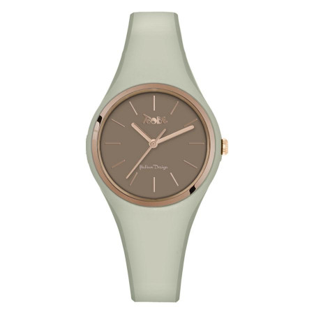 Watch lady in anallergic silicone sand and pink ring