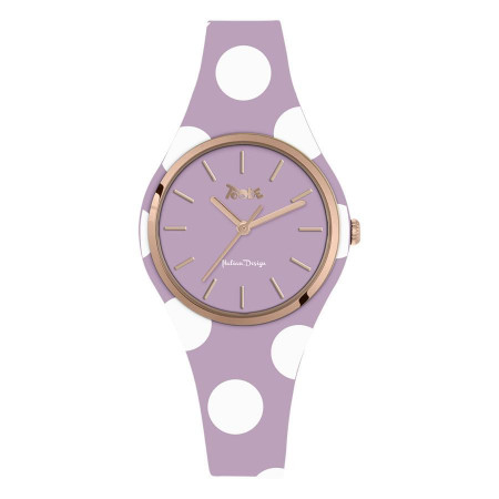 Watch lady in silicone anallergic glicine with white polka dots