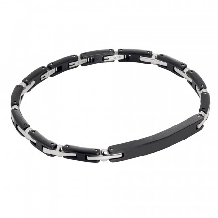 Modular bracelet in black pvd