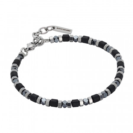 Bracelet with decorations of black hematite