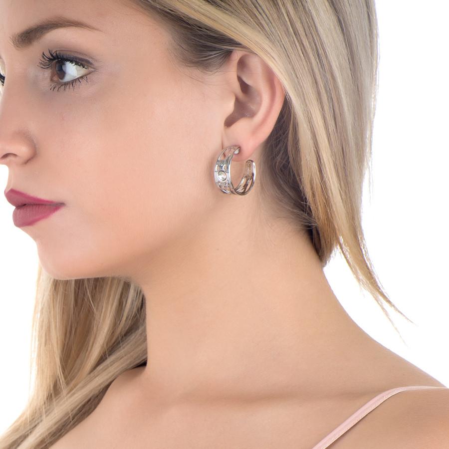 133aa64cf Earrings half moon with Swarovski Earrings half moon with Swarovski ...