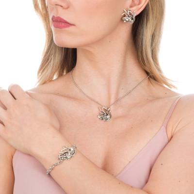 Marina bracelet with anemone central