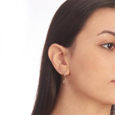 Two-tone tree of life mono earring