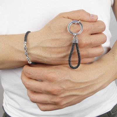 Black scooby do keychain with knot