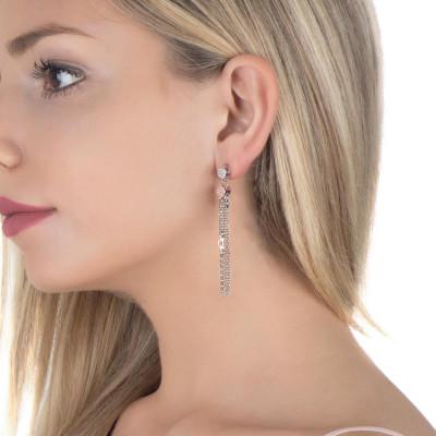 Earrings pendants to herons and zircons