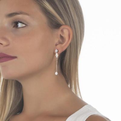 Earrings with zircon diamond cut final