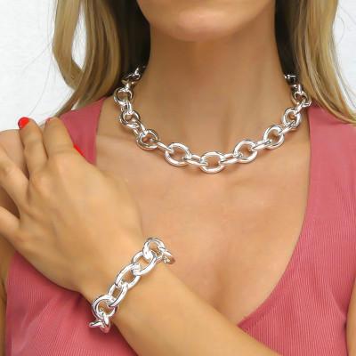 Medium silver chain bracelet
