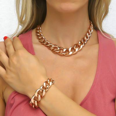 Pink Degraded Curb Bracelet