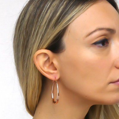 Pink bronze drop earrings