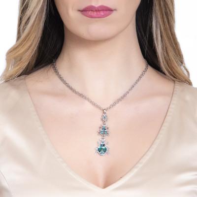 Pendant necklace with Swarovski scarabs