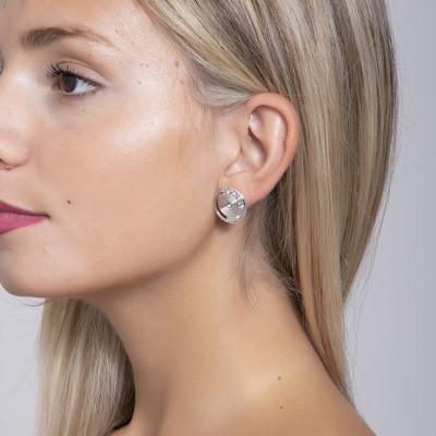 Earrings rodiati lobe of inspiration Maya and Swarovski