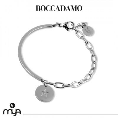 Semi-rigid bracelet with star and crystal