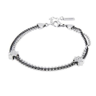 Bracelet double wire with Rosa dei Venti