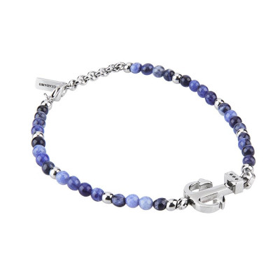 Bracelet with lapis lazuli blue, still and zircons