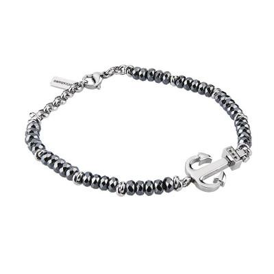 Bracelet with hematite, still and zircons