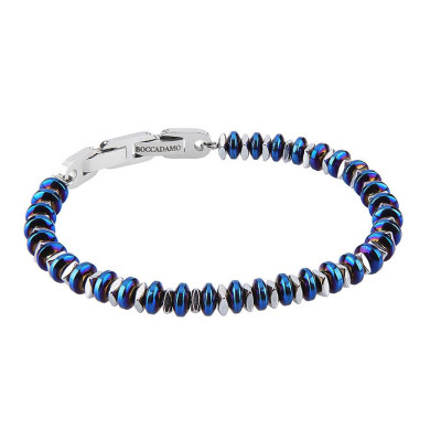 Steel Bracelet with t-shirts in PVD blue