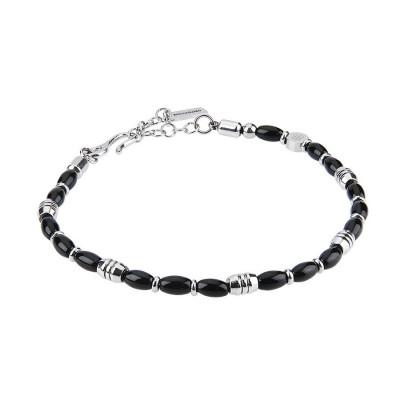 Steel Bracelet and obsidian