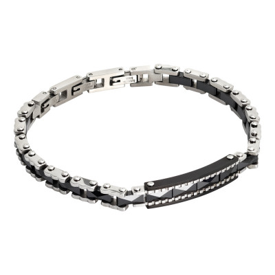 Motorcycle chain bracelet and black ceramic