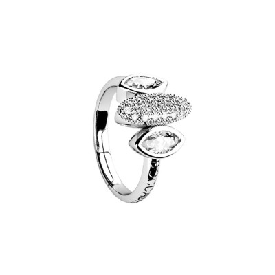 Ring with zircons