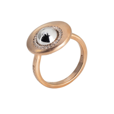 Rose Gold Plated Moon Eclipse Ring and Sphere