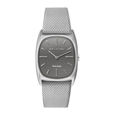 Wristwatch woman with rectangular quadrant anthracite