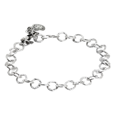 Bracelet for charms for hooking to polished links. Small size.