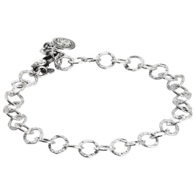 Bracelet for charms for hooking to polished links. Medium size.