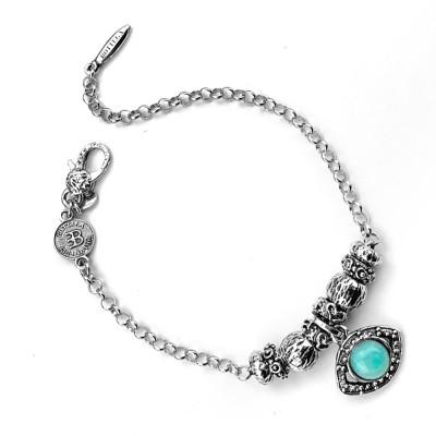 Modular bracelet with Horus eye and amazonite