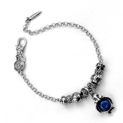 Modular bracelet with penguin and kyanite