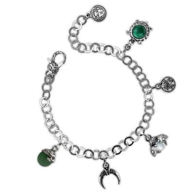 Modular bracelet with prosperity theme