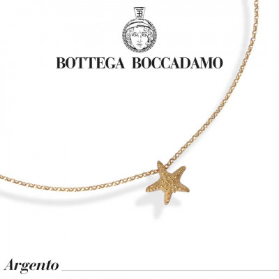 Yellow gold plated necklace with pendant starfish