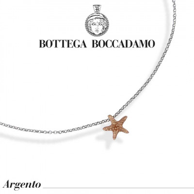 Necklace with starfish pendant rose gold plated