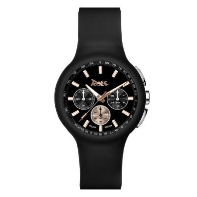 Clock in black silicone and counters bicolor