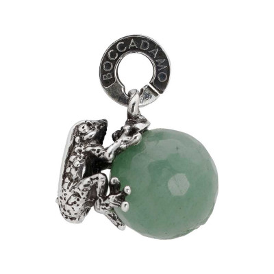 Charm with green aventurine and frog