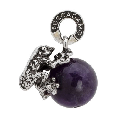 Charm with amethyst and frog