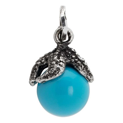 Charm with starfish and turquoise