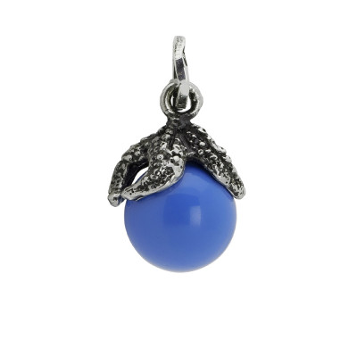 Charm with blue agate