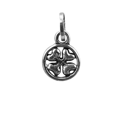 Four-leaf clover charm in low relief