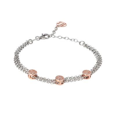 Multiwire Bracelet bicolor with zircons